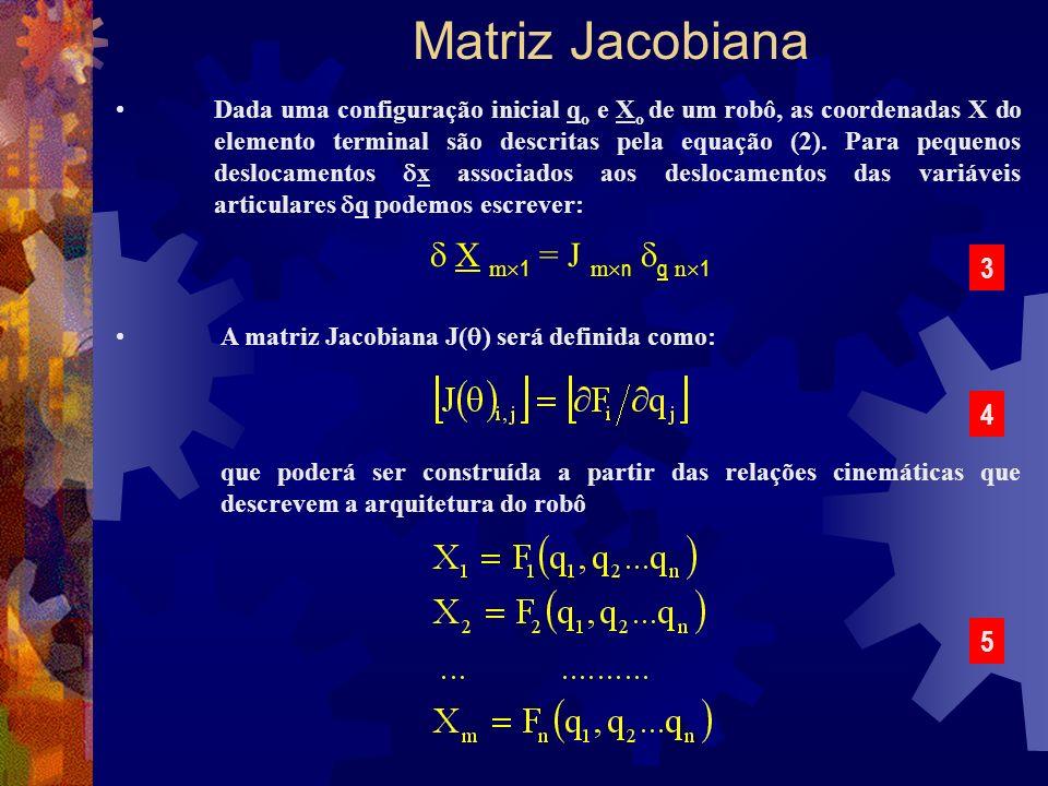 Matriz Jacobiana  X m1 = J mn q n1 3 4 5