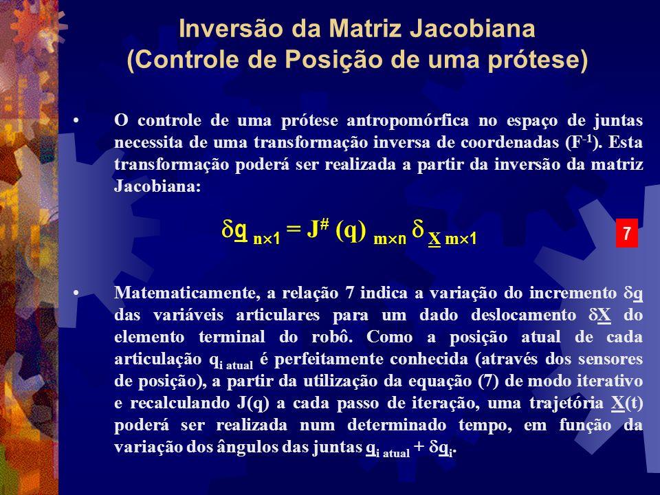Inversão da Matriz Jacobiana (Controle de Posição de uma prótese)