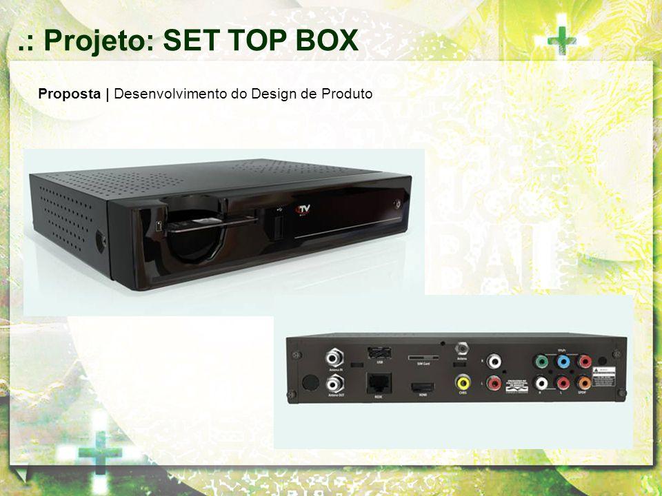 .: Projeto: SET TOP BOX Proposta | Desenvolvimento do Design de Produto