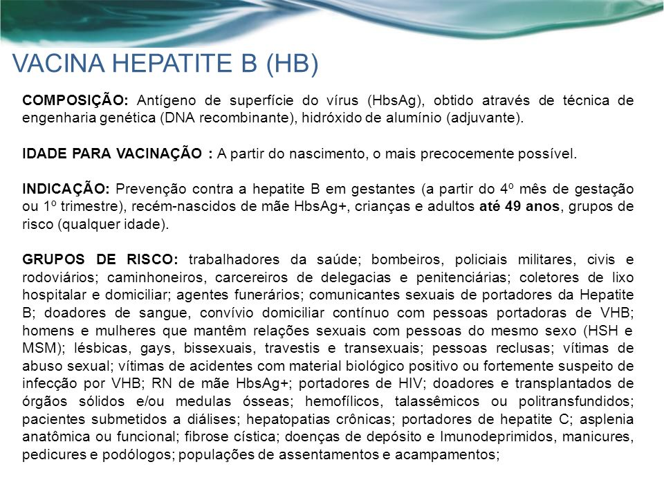 VACINA HEPATITE B (HB)