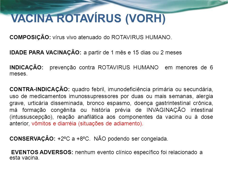 VACINA ROTAVÍRUS (VORH)