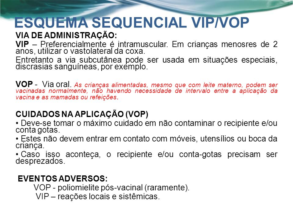 ESQUEMA SEQUENCIAL VIP/VOP