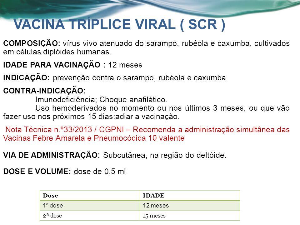 VACINA TRÍPLICE VIRAL ( SCR )
