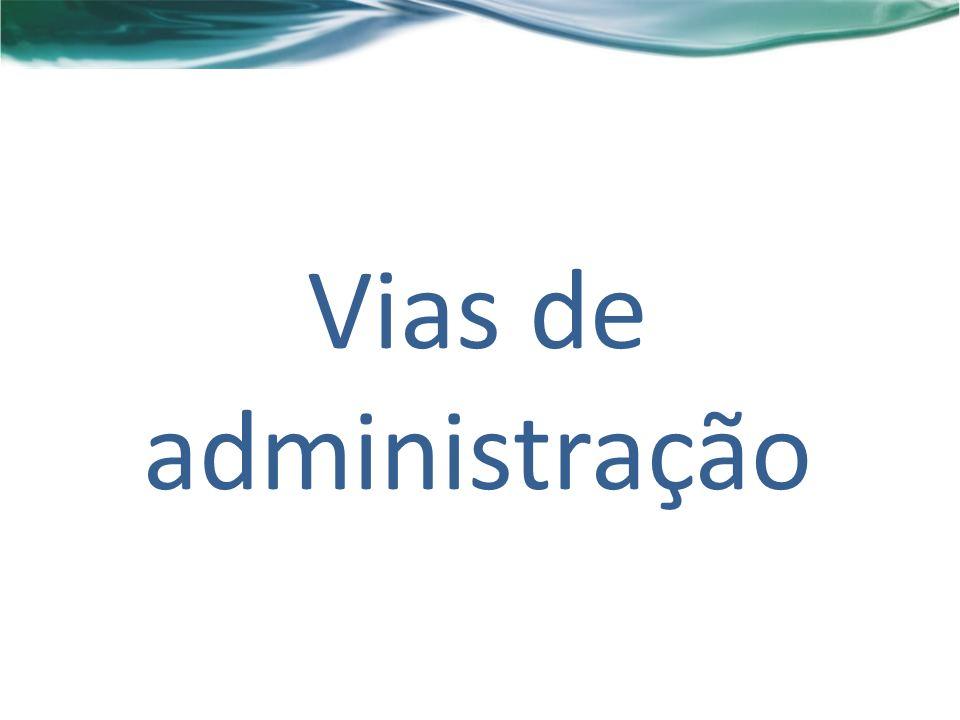 Vias de administração