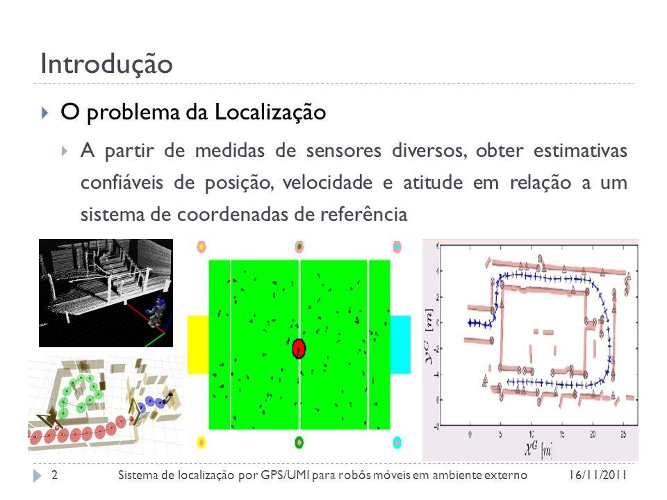 Introdução Ambiente Sensores Variáveis de Estado Dimensão do Espaço