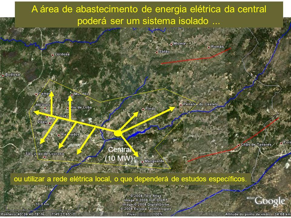 A área de abastecimento de energia elétrica da central poderá ser um sistema isolado ...