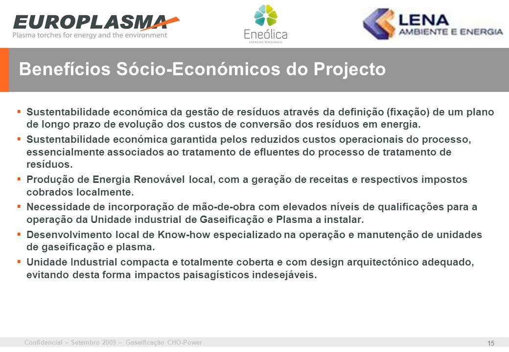 Benefícios Sócio-Económicos do Projecto