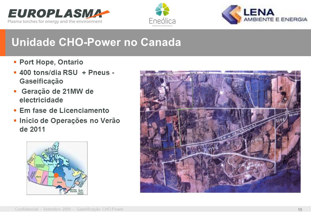 Unidade CHO-Power no Canada