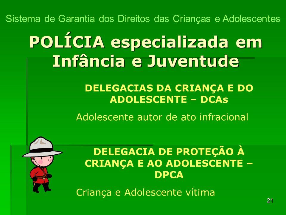 POLÍCIA especializada em Infância e Juventude