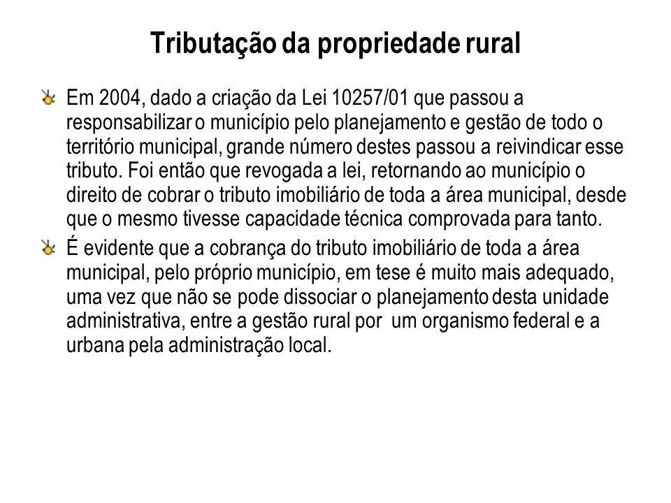 Tributação da propriedade rural