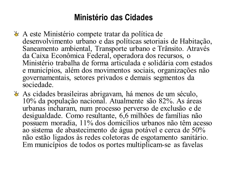 Ministério das Cidades