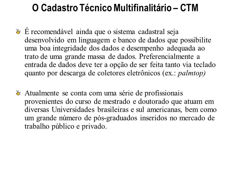 O Cadastro Técnico Multifinalitário – CTM