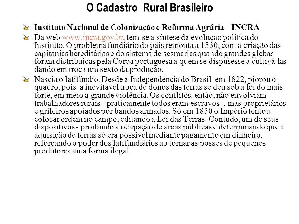 O Cadastro Rural Brasileiro
