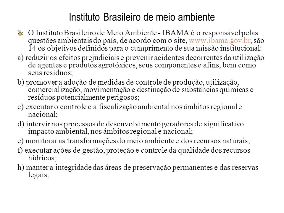 Instituto Brasileiro de meio ambiente