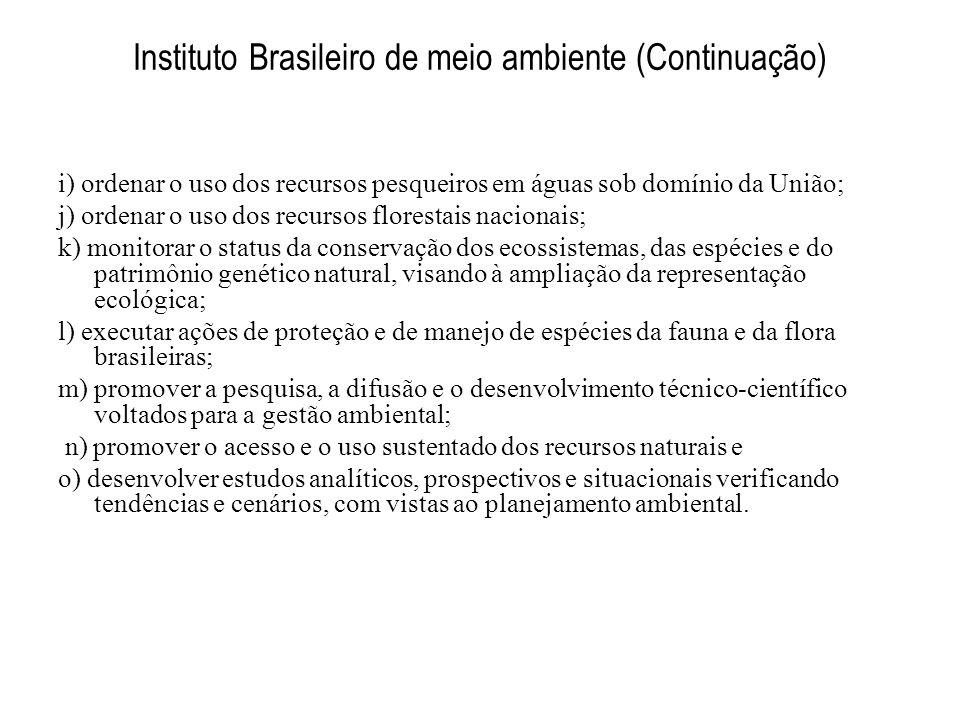 Instituto Brasileiro de meio ambiente (Continuação)