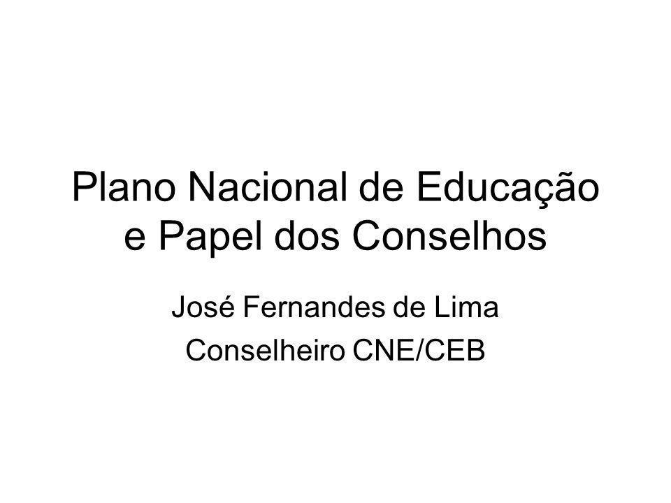 Plano Nacional de Educação e Papel dos Conselhos