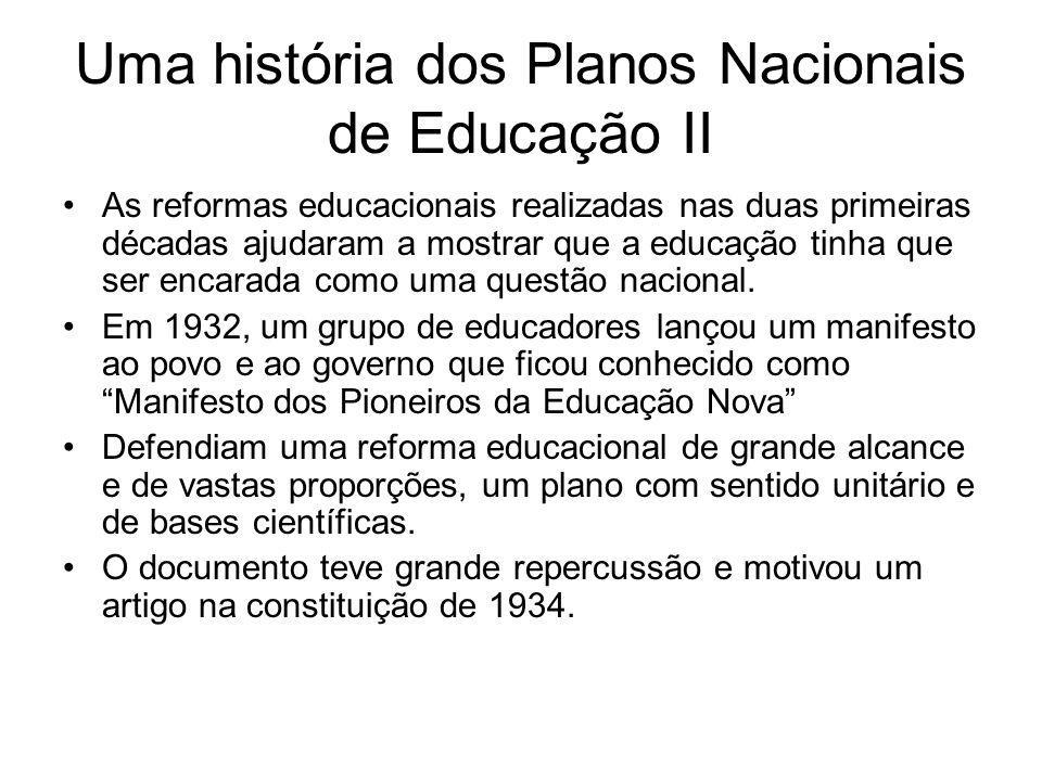 Uma história dos Planos Nacionais de Educação II