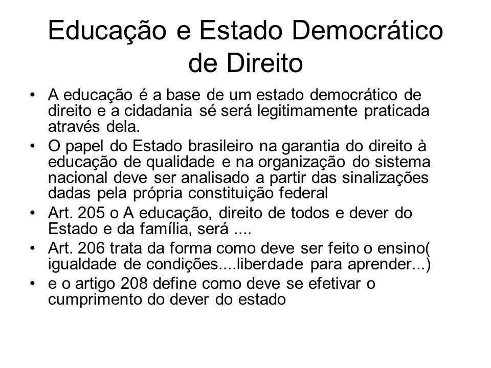 Educação e Estado Democrático de Direito