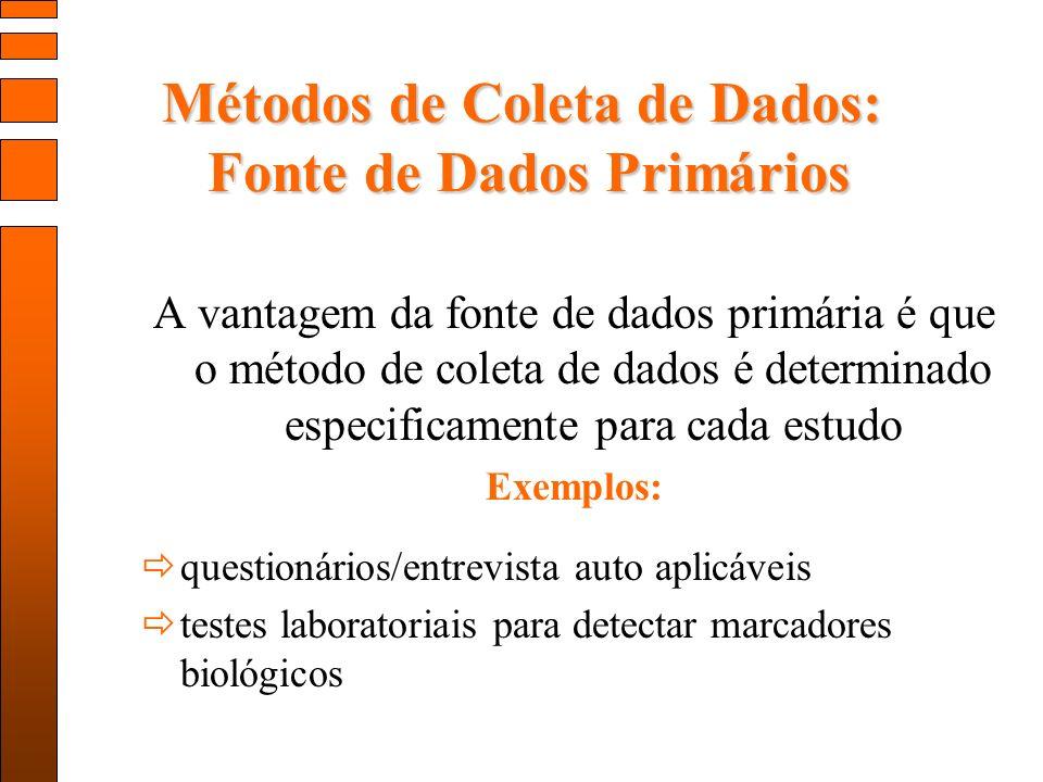 Métodos de Coleta de Dados: Fonte de Dados Primários