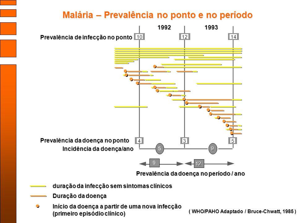 Malária – Prevalência no ponto e no período