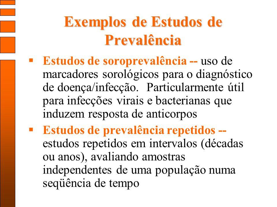 Exemplos de Estudos de Prevalência