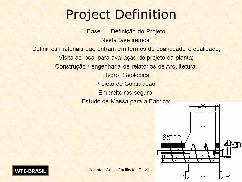 Project Definition Fase 1 - Definição do Projeto Nesta fase iremos: