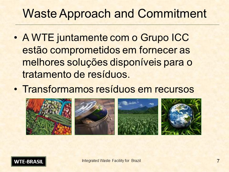 Waste Approach and Commitment