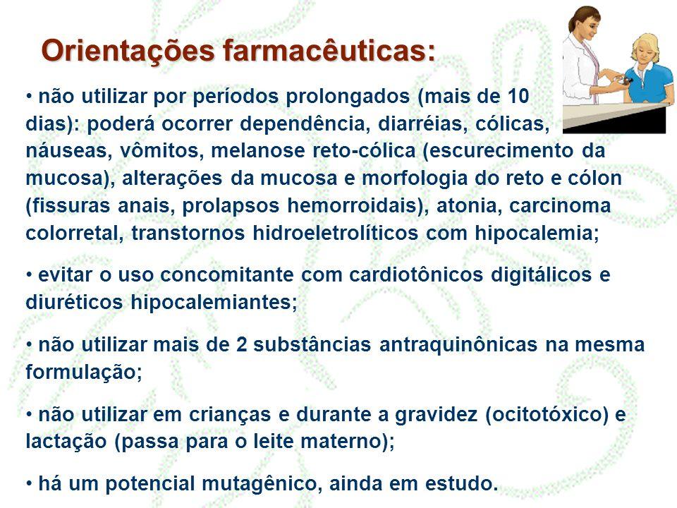 Orientações farmacêuticas: