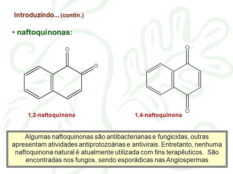 naftoquinonas: Introduzindo... (contin.)