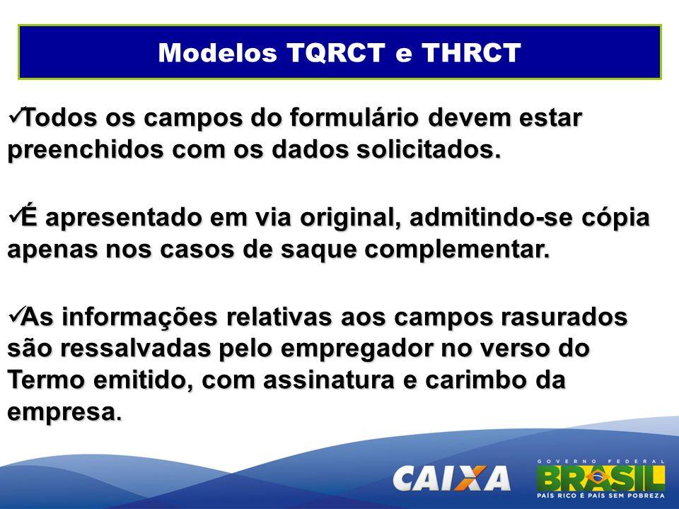 GEPAE - Cenários Modelos TQRCT e THRCT. Todos os campos do formulário devem estar preenchidos com os dados solicitados.
