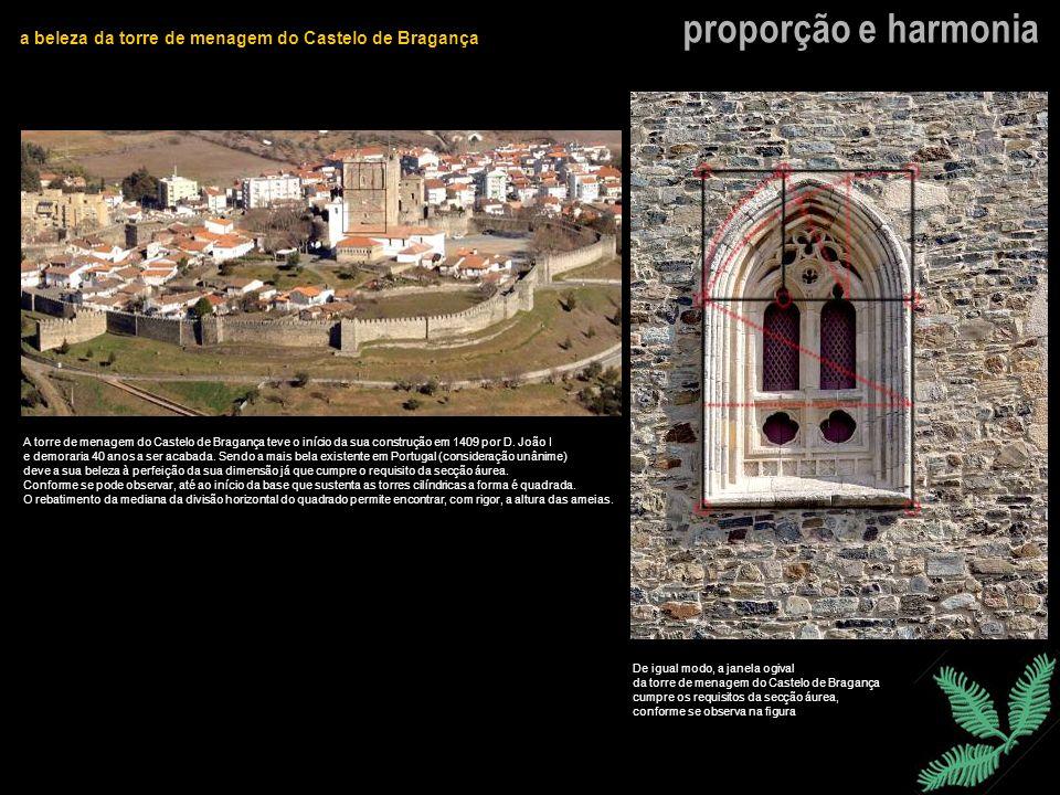 proporção e harmoniaa beleza da torre de menagem do Castelo de Bragança.