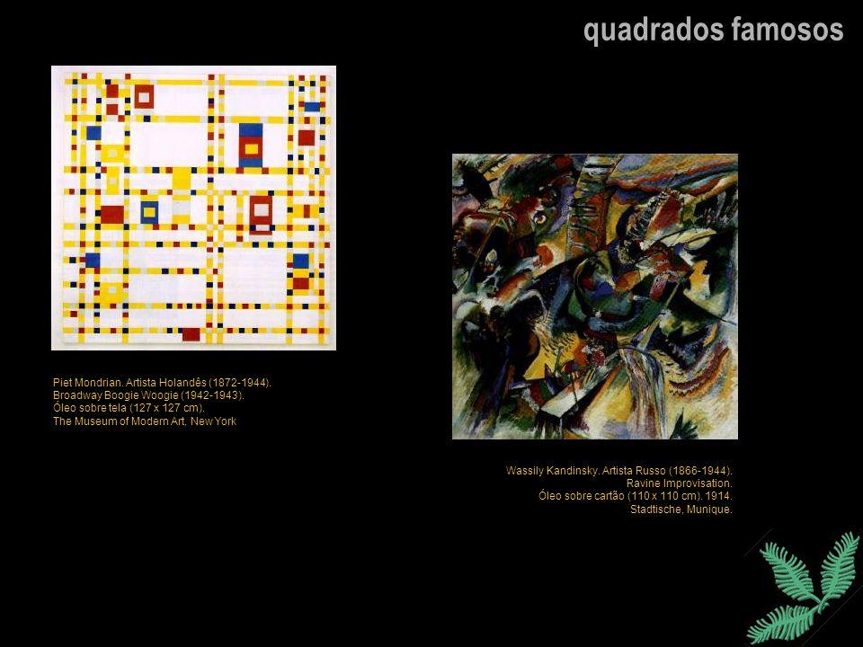 quadrados famosos Piet Mondrian. Artista Holandês (1872-1944).