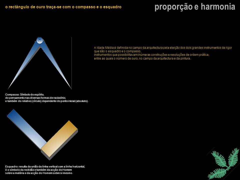 o rectângulo de ouro traça-se com o compasso e o esquadro