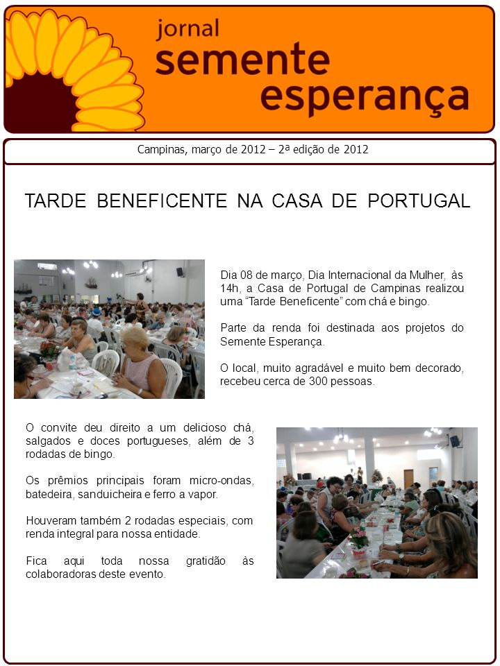 TARDE BENEFICENTE NA CASA DE PORTUGAL