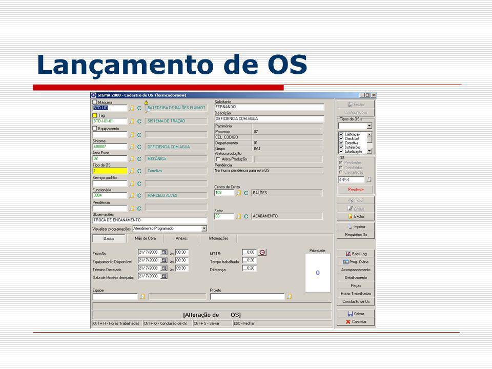 Lançamento de OS