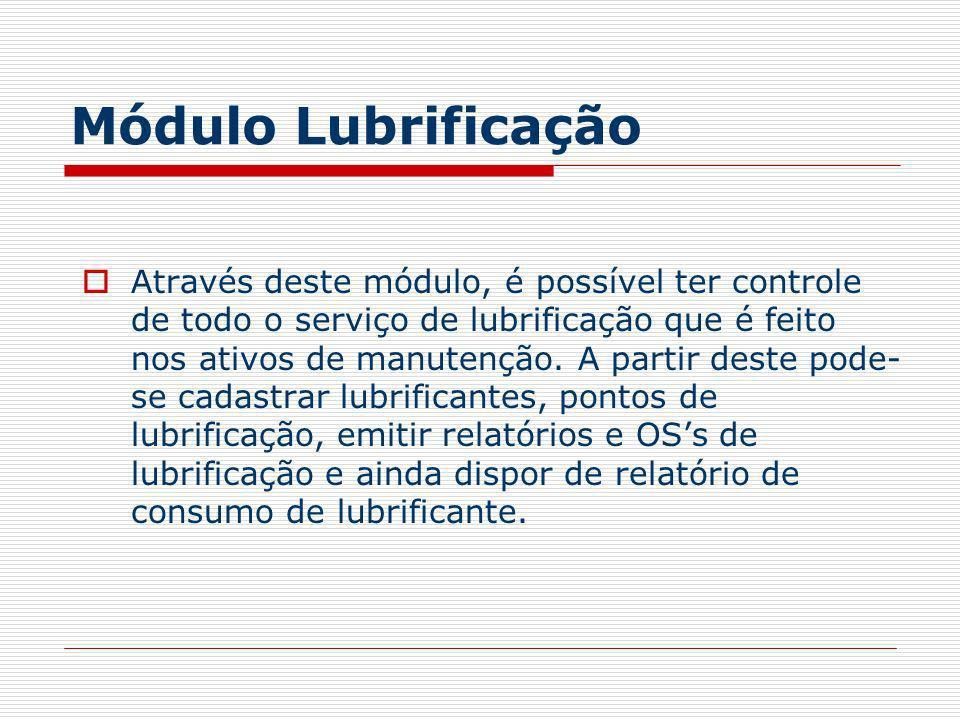 Módulo Lubrificação