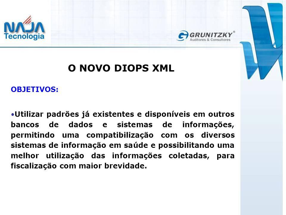 O NOVO DIOPS XML OBJETIVOS:
