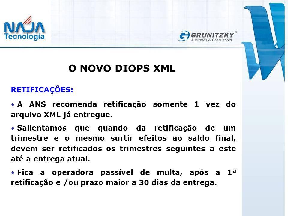 O NOVO DIOPS XML RETIFICAÇÕES: