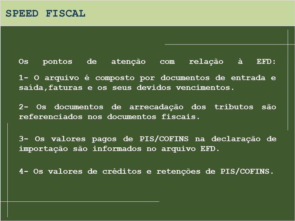 SPEED FISCAL Os pontos de atenção com relação à EFD: