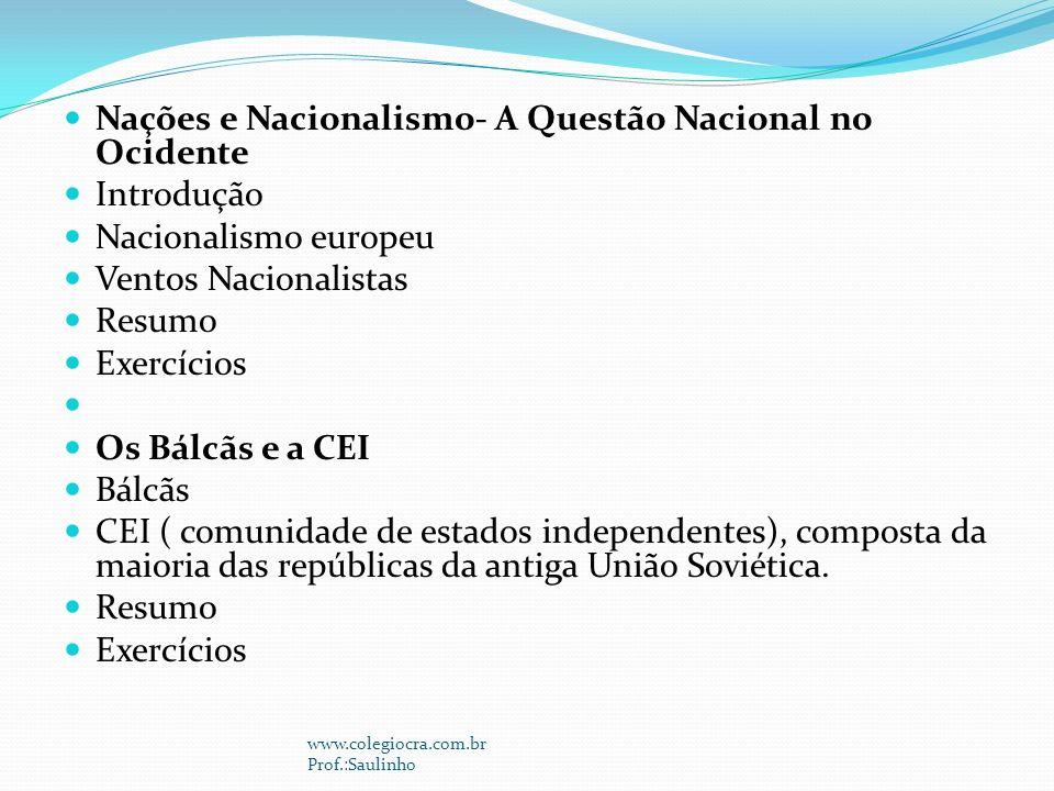 Nações e Nacionalismo- A Questão Nacional no Ocidente Introdução