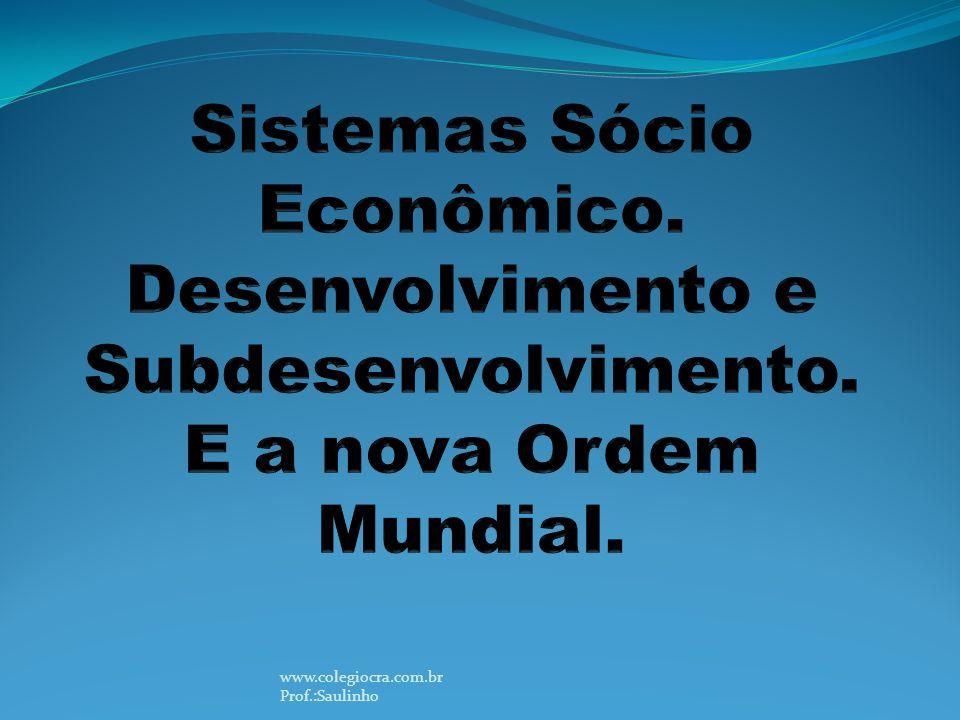 Sistemas Sócio Econômico. Desenvolvimento e Subdesenvolvimento