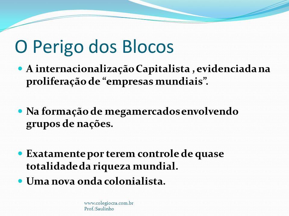 O Perigo dos Blocos A internacionalização Capitalista , evidenciada na proliferação de empresas mundiais .