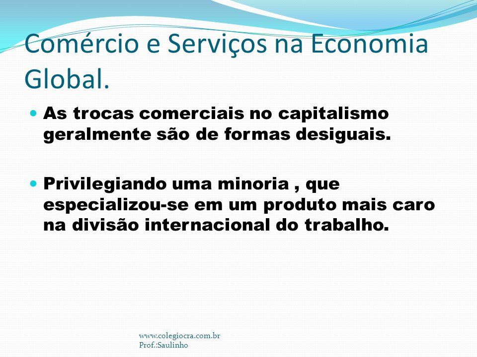 Comércio e Serviços na Economia Global.