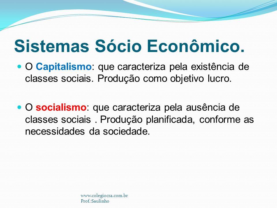 Sistemas Sócio Econômico.