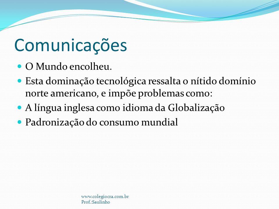 Comunicações O Mundo encolheu.