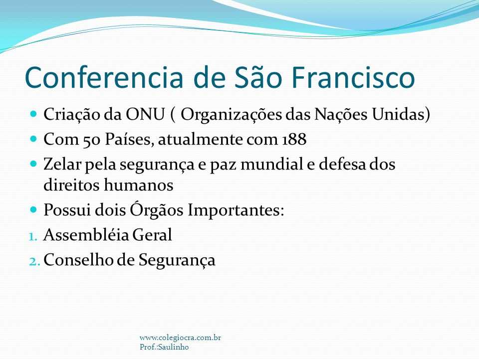 Conferencia de São Francisco