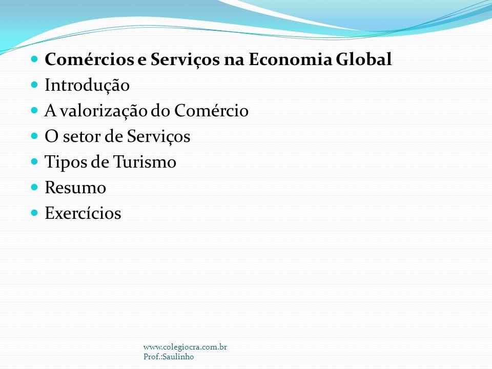 Comércios e Serviços na Economia Global Introdução