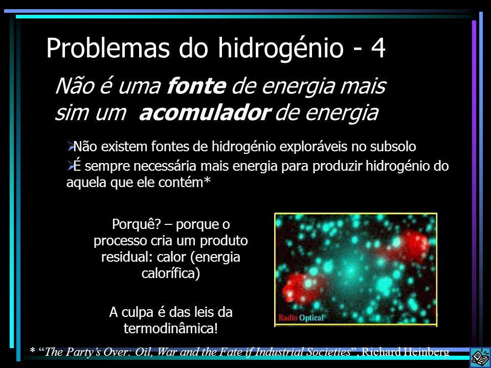 Problemas do hidrogénio - 4
