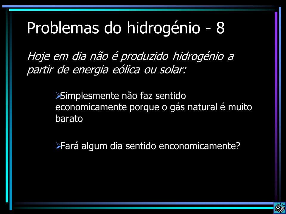 Problemas do hidrogénio - 8