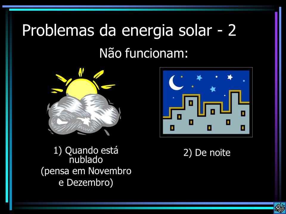 Problemas da energia solar - 2
